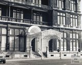 Entrance canopy to the Empire Hotel, Orange Grove, Bath, pre 1973