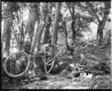 Mending a puncture! c.1900