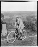 Posing on a cycling trip, probably at Dry Arch, Bathampton c.1900