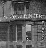 Temporary premises of Duck Son & Pinker at 1 Whiteladies Road, Clifton, Bristol 1948