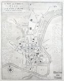 A New and Correct Plan of the City of Bath, Frederick, Leake & Taylor c.1770