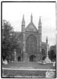 West front of Winchester Cathedral, Winchester, Hampshire, c.1930s