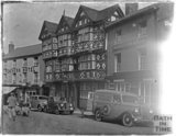 Half timbered buildings, Ludlow, Shropshire late 1940s