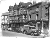Half timbered buildings, Ludlow, Shropshire, late 1930s