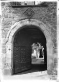 Looking through the Carved Doorway, Exeter Cathedral, Devon c.1905