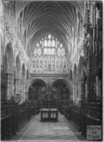 Inside Exeter Cathedral, Devon, 1905