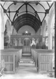 Inside St Michael's Church, Ilsington, near Exeter, Devon c.1930s