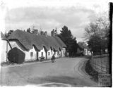 Thatched cottages in Stockton near Wylye, Wiltshire, c.1920s