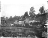 Riverside buildings, thought to be near Stockton near Wylye, Wiltshire, c.1920s