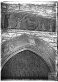 Norman Tympanum, Langport Church, Somerset 1931