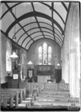 Inside the Church of St Mary, Luccombe near Minehead, Somerset,  c.1905 - 1915
