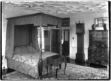 Bedroom inside Poundisford Park, near Pitminster, Somerset c.1920s