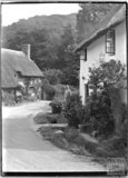 Thatched Cottages at the end of Park Street in Dunster, Somerset, c.1910