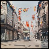Dufaycolor view of a tram on Cheap Street, Bath, May 1937