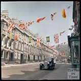 Dufaycolor view of Gay Street, Bath, May 1937