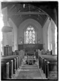 Inside All Saints Church, Selworthy, Somerset c.1910s