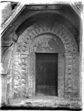 south doorway at St Swithin's, Quenington, Gloucestershire, c.1920s