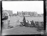 View from a passenger ship of the seafront at Southsea, 1933