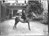 Young girl on a horse, Monkton House, Warminster Road, Limpley Stoke c.1910s