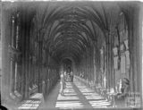 Inside the east cloister at Wells Cathedral c.1900