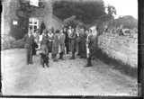 Group of youngsters outside the tearoom at Conkwell, c.1933