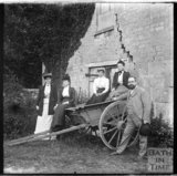 Group portrait with a cart at Murhill, near Limpley Stoke, c.1890s