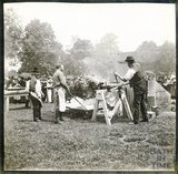 Ox roast at Royal Victoria Park (?) Celebrations of Diamond Jubilee 1897
