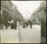 Looking up Milsom Street Towards York Buildings, Celebrations of Diamond Jubilee 1897