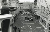 Putting up the Christmas Lights in Union Street, Bath, 1990