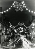 Christmas Lights on Pulteney Bridge, Bath, 1988