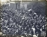 Visit of the Hon W Reid to unveil tablet to Edmund Burke at 11 North Parade, 22 October 1908