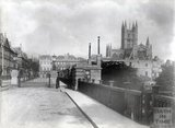 View of Bath Abbey from North Parade Bridge, 1892
