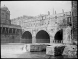 View of Pulteney Bridge and Old Mill from the river, c.1905
