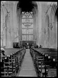 Inside Bath Abbey, c.1905