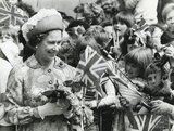 The Queen on walkabout in Bath, August 1977
