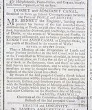 Dorset and Somerset Canal, notice to form an inland communication between Poole and Bristol 1795