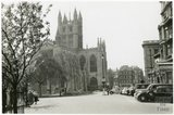 Bath Abbey and Orange Grove, with the Empire Hotel to the right, 1953-55