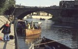 Steam boat Vixen on the River Avon close to Pulteney Weir, 1974