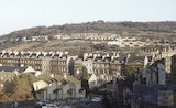 Looking towards the Warminster Road, Bathwick, Mar 1985