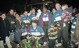 Bath Rugby return home after winning the European Cup, Feb 2 1998