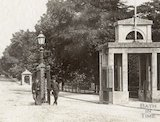 The entrance to Royal Victoria Park, Bath c.1885 - detail