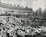 Wartime bomb damage outside the Royal Crescent, Bath, April 1942