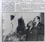 Ethiopian Ambassador unveiling a plaque at Fairfield House, Bath, 14 March 1959