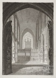 Interior of Bath Abbey, Bath 1814