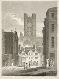 North View of Bath Abbey from High Street, Bath 1814