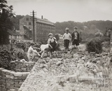 Children playing on wasteland, Twerton, Bath 1949