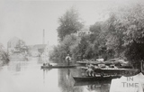 The river, looking toward Carr's Mill, Twerton, Bath 1906