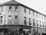 Woolworth's entrance, Stall Street and New Orchard Street, Bath 1967