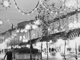 Christmas decorations in Southgate Street, Bath 1970s
