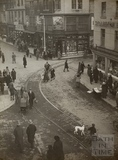 A busy street scene, Westgate Place, Bath, February 1925